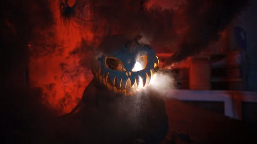 Free stock photo of chainsaw, halloween, horror, pumpkin