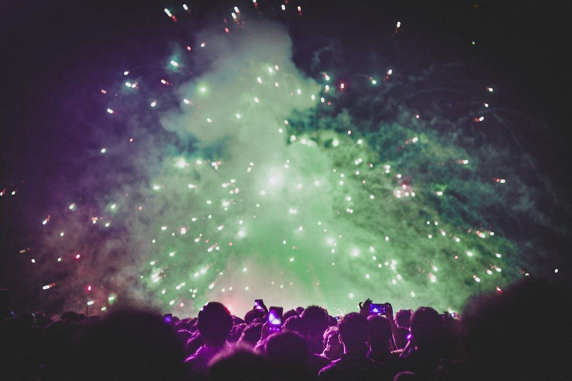 aglomerație, artificii, celebrare