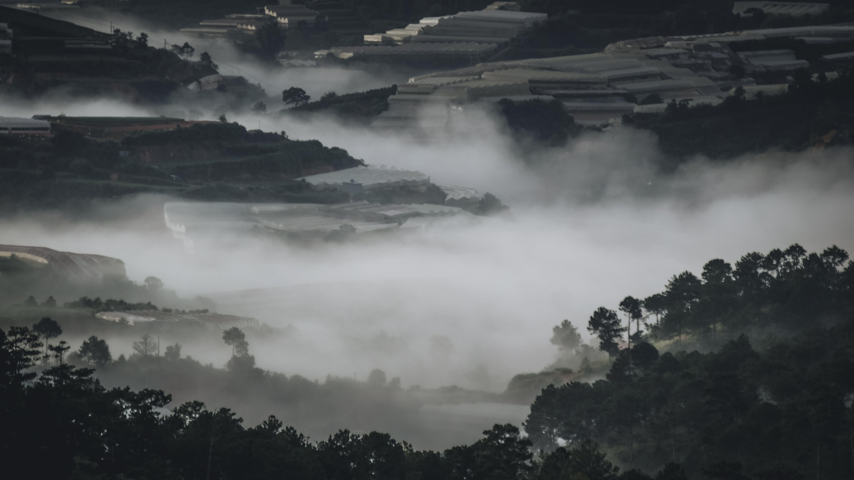 Free stock photo of landscape, fog, foggy, hills