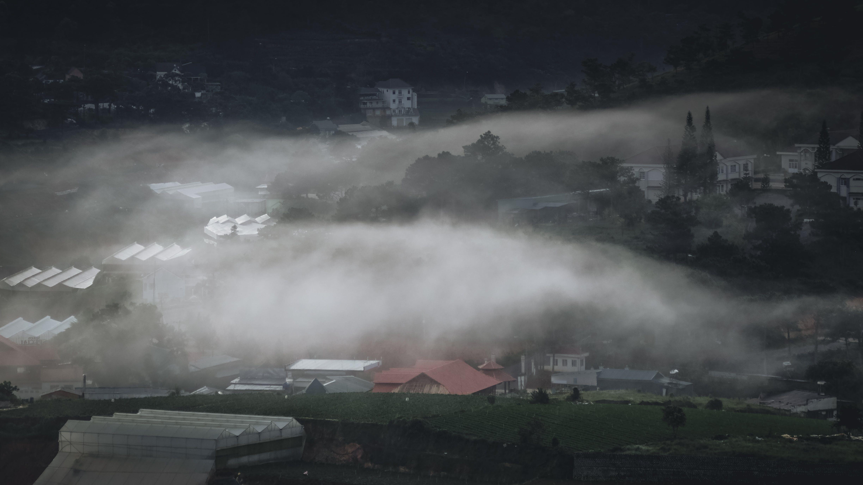 Free stock photo of city, landscape, fog, foggy