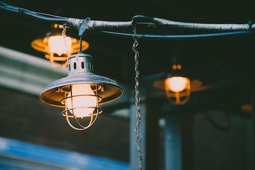Бесплатное стоковое фото с лампа, лампочки, максросъемка, огни