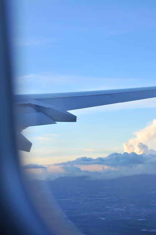 คลังภาพถ่ายฟรี ของ การเดินทาง, ท้องฟ้า, เครื่องบิน, เมฆ