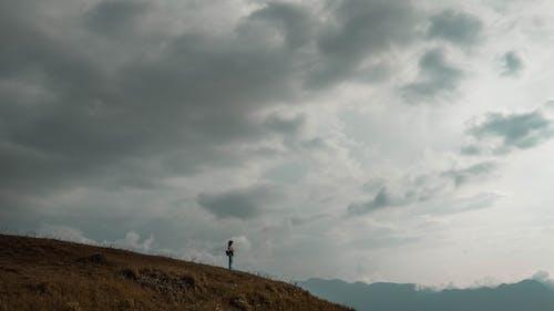 Darmowe zdjęcie z galerii z krajobraz, ludzie, niebo, słońce