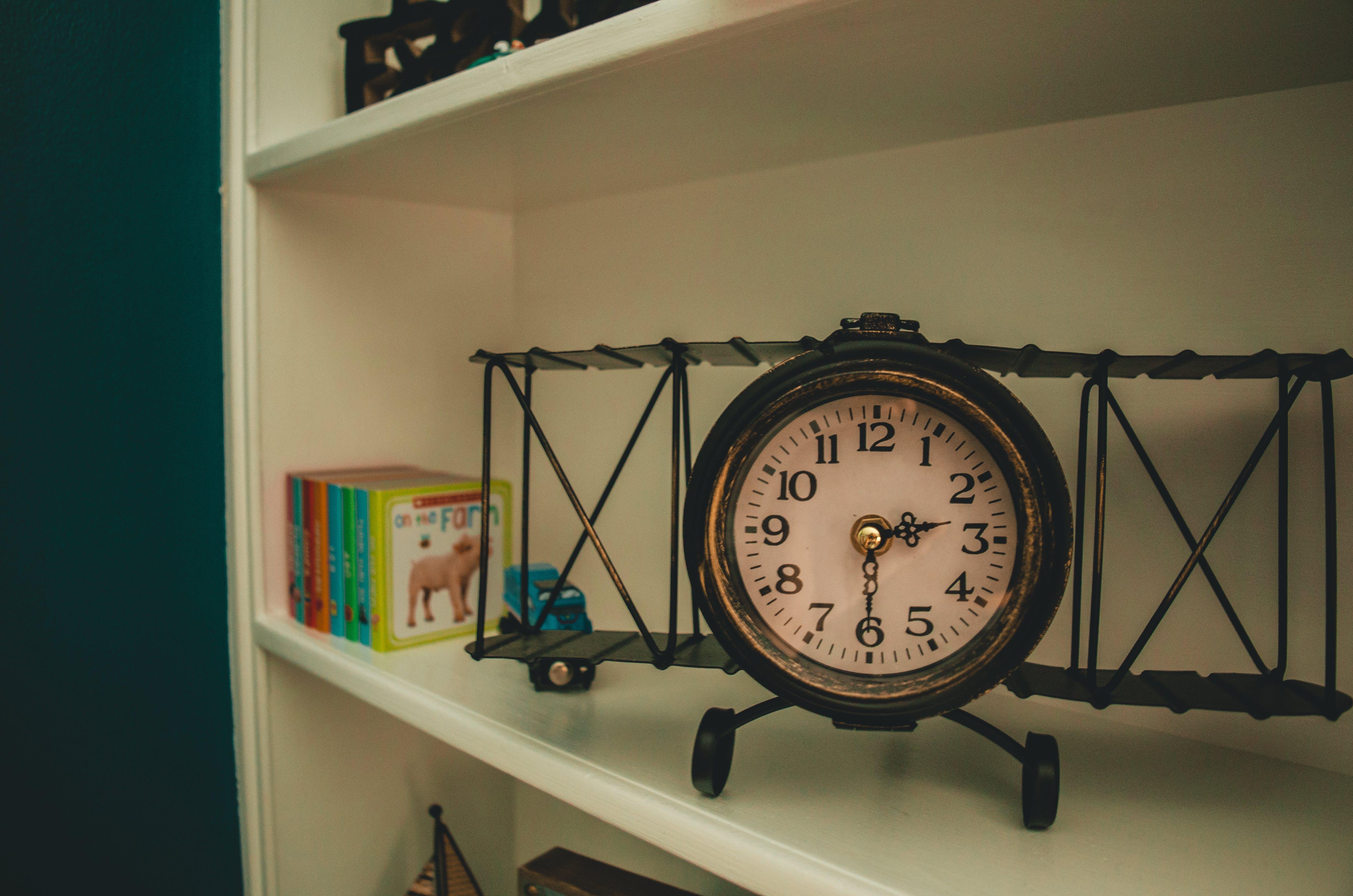 Free stock photo of airplane, airplane clock, baby, children's books
