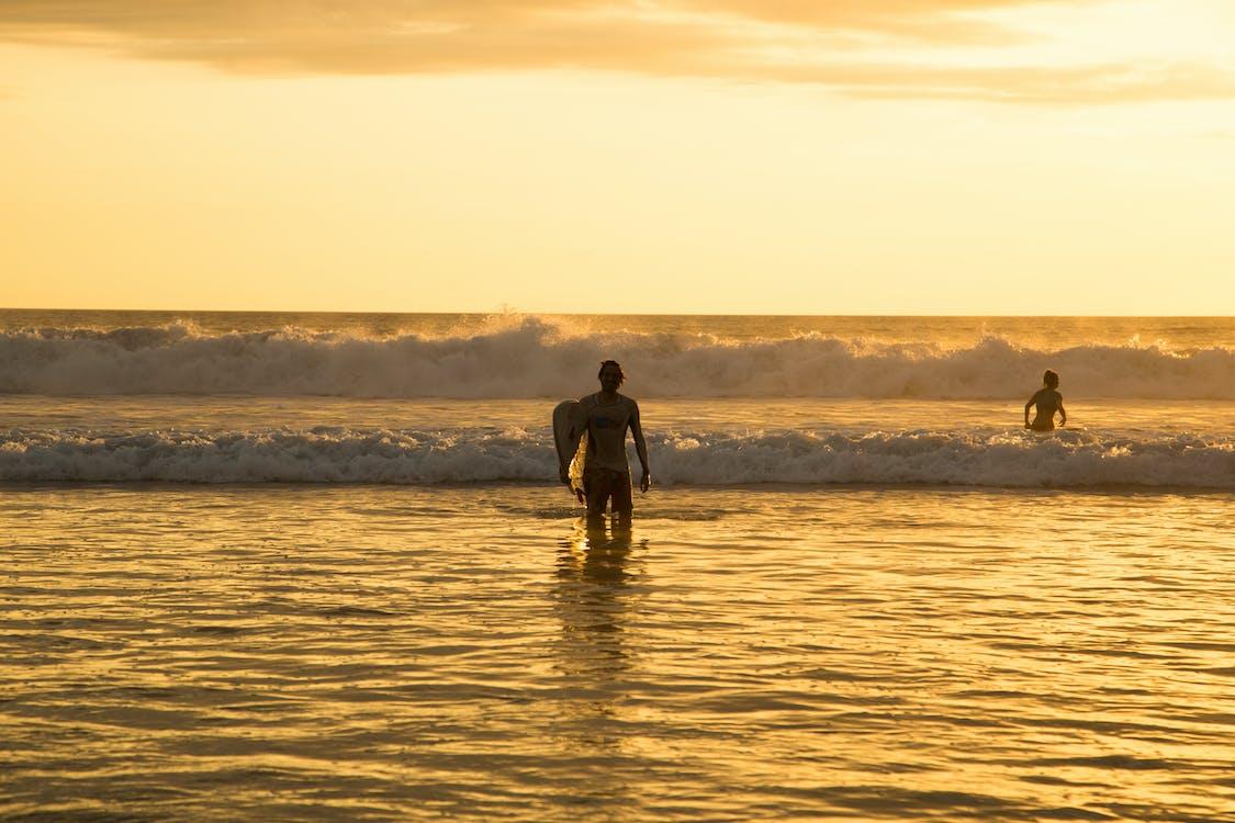 coucher de soleil, coucher du soleil, plage