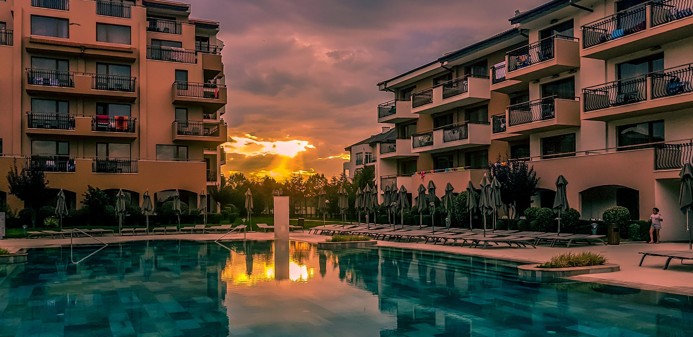 Free stock photo of amazing, bulgaria, golden sunset, hotel