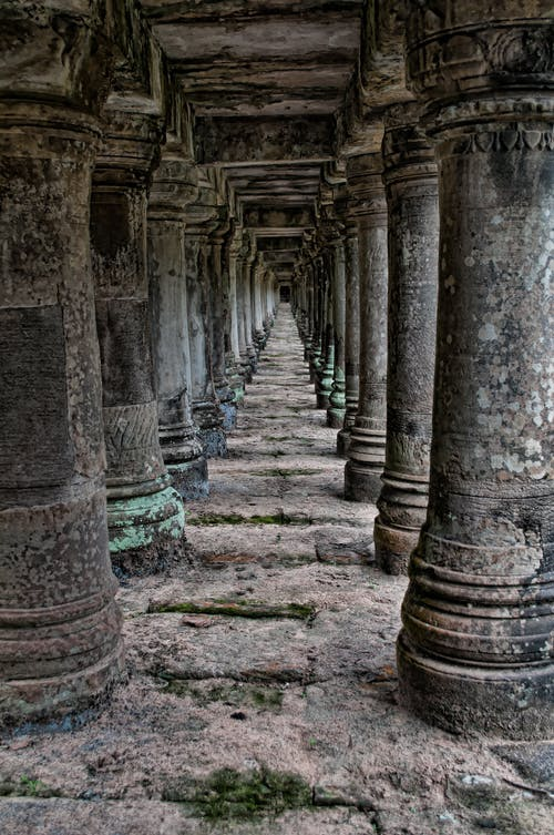 Imagine de stoc gratuită din acoperit de mușchi, angkor wat, antic, antichitate