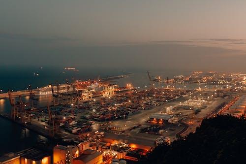 Free stock photo of city, export, mediterranean sea, night