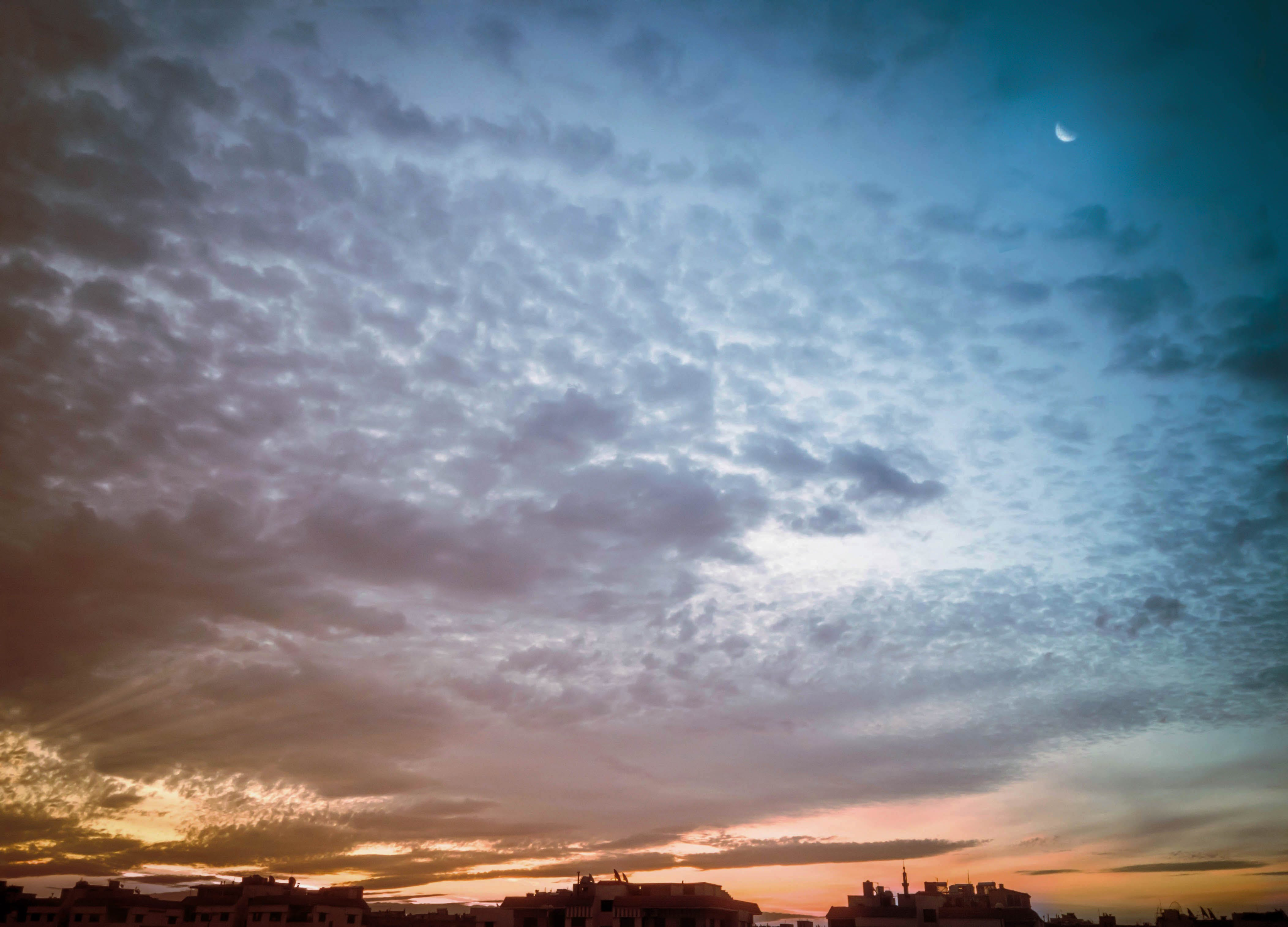 Free stock photo of blue, blue hour, blue sky, clouds