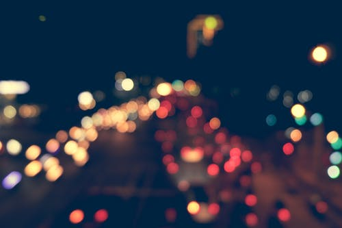 Bokeh Photography of Vehicle Taillights at Nighttime
