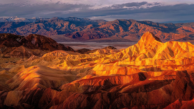 berge, canyon, dürr