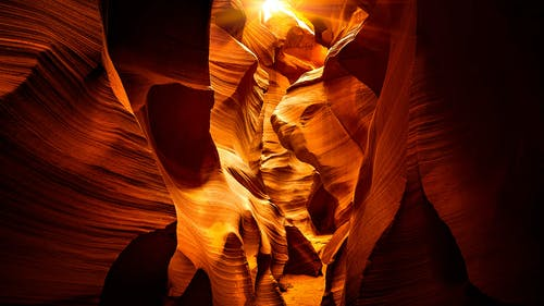 Kostenloses Stock Foto zu antelope canyon, canyon, geologie, geologische formation