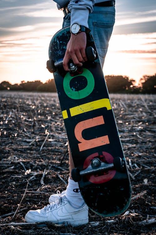 アクション, おとこ, スケート, スケートボーダーの無料の写真素材