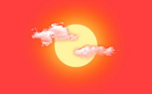 Kostnadsfri bild av Adobe Photoshop, gyllene sol, moln, photoshop