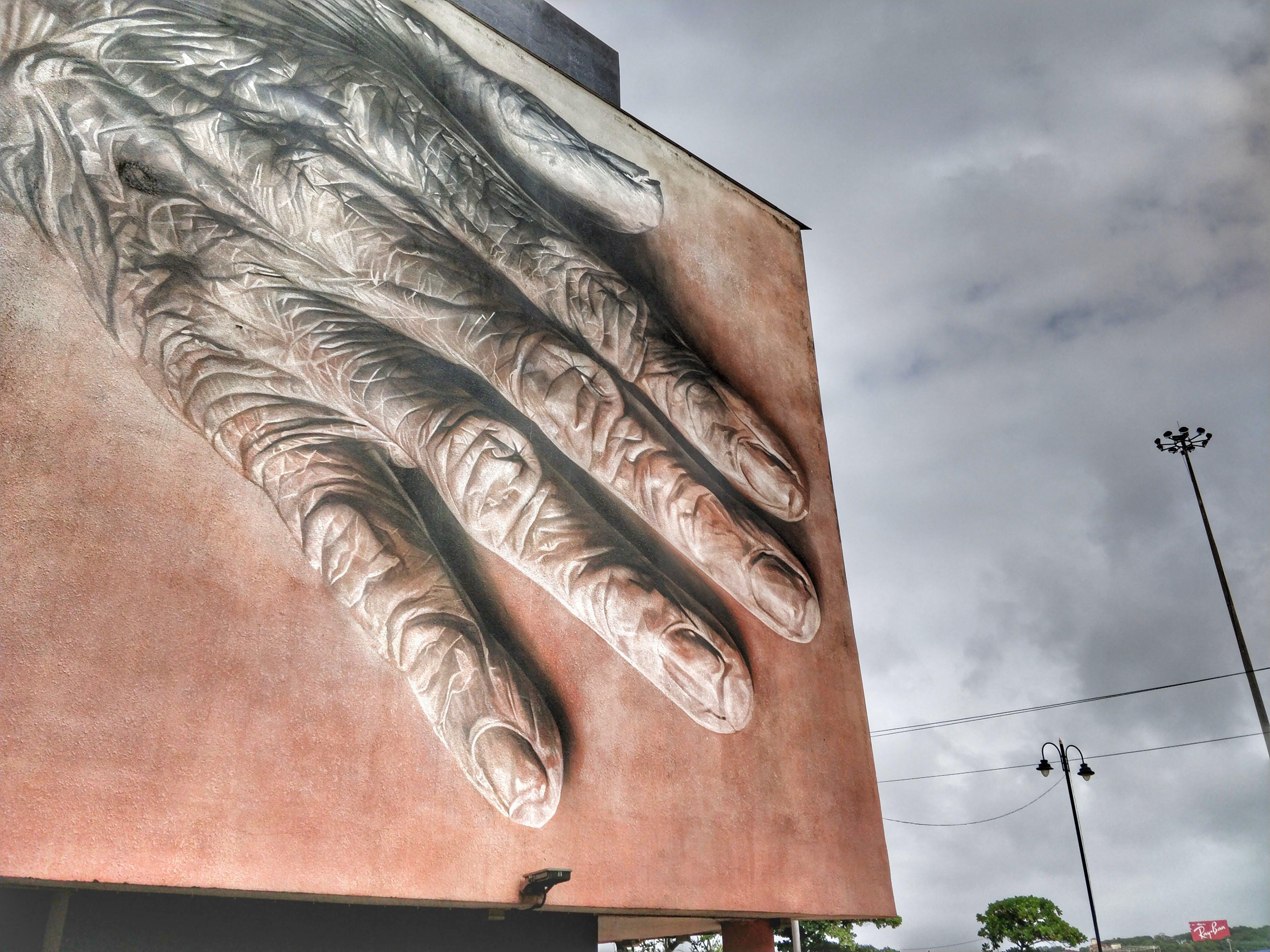 Human Hand Billboard Painting