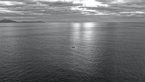 Monochrome Photography of an Ocean