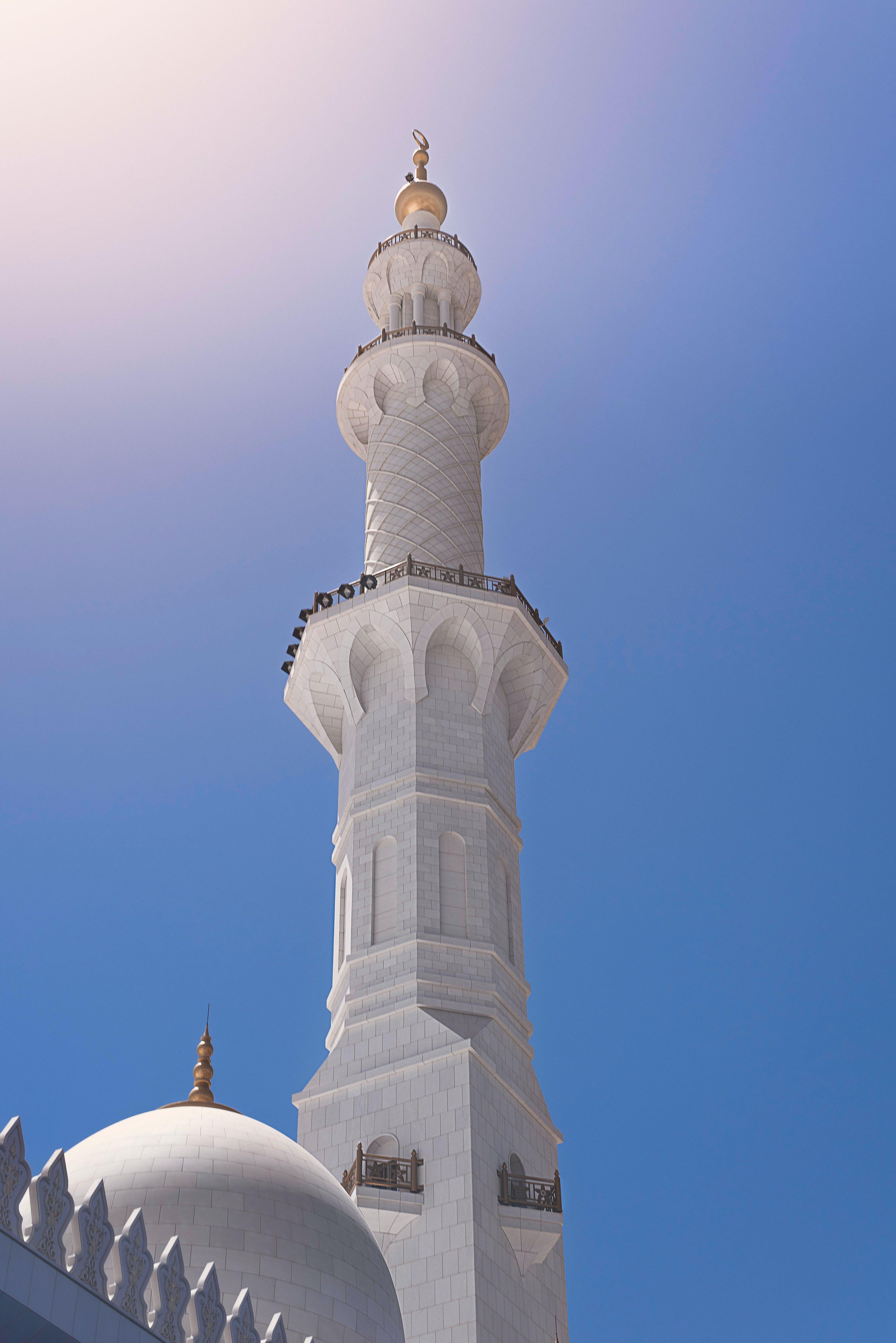 Δωρεάν στοκ φωτογραφιών με sheikzaidgrandmosque, ήλιος, μεγάλο τζαμί