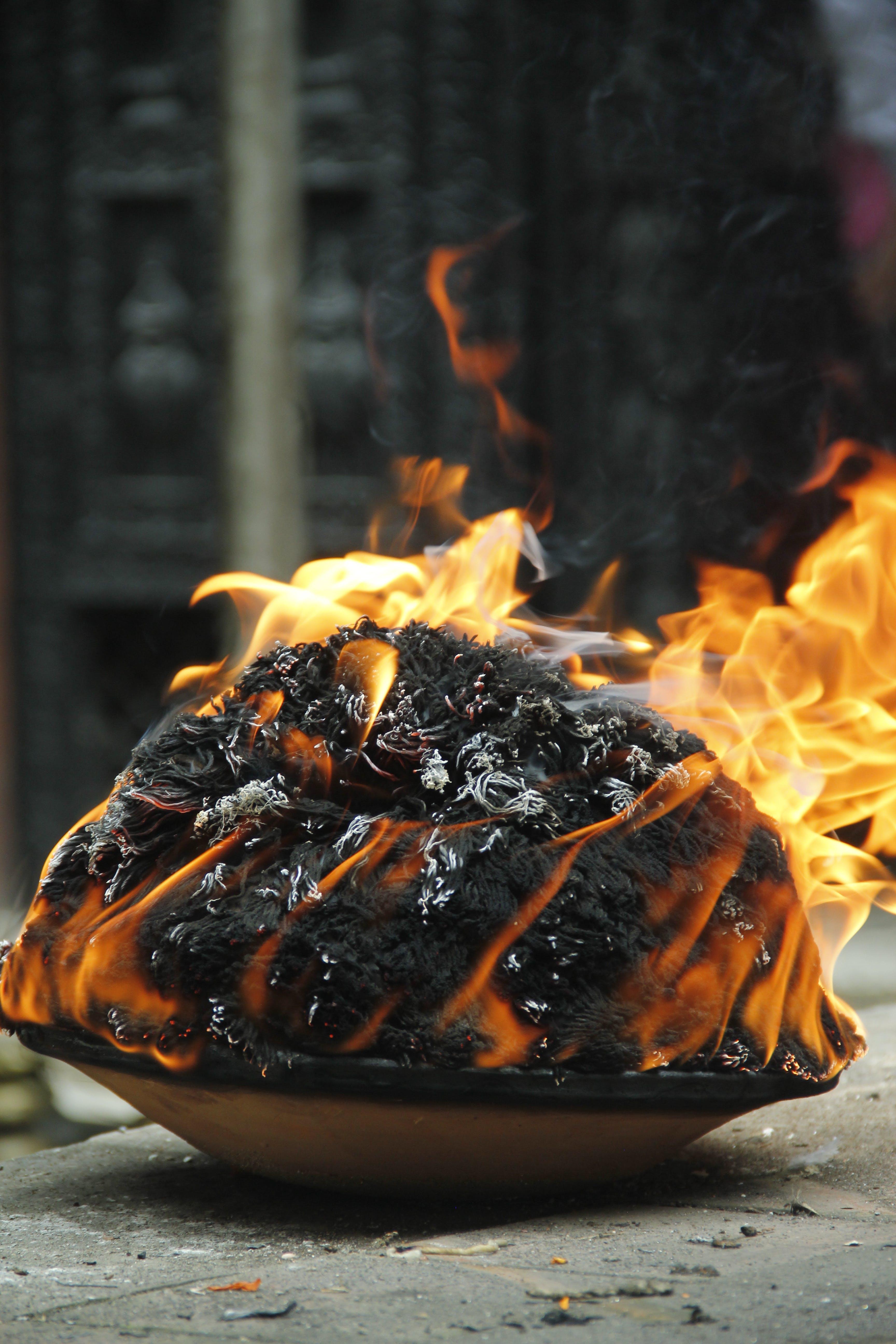 Free stock photo of fire, religion