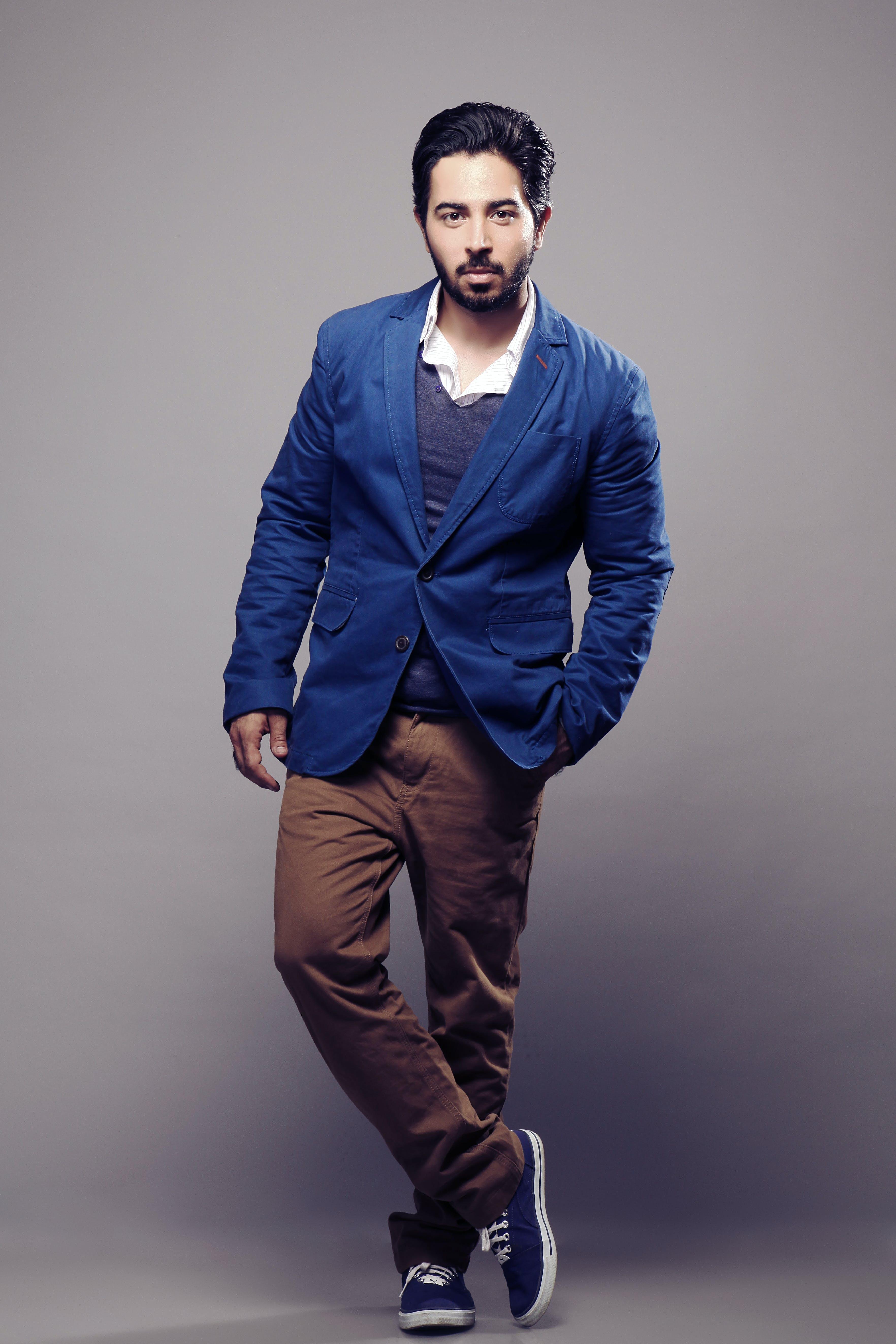 Free stock photo of businessman in beard posing