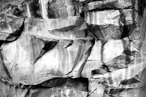 Imagine de stoc gratuită din abraziv, alb-negru, dur, textură