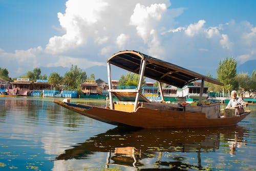 カシミール, シーン, ダル湖, 手漕ぎボートの無料の写真素材