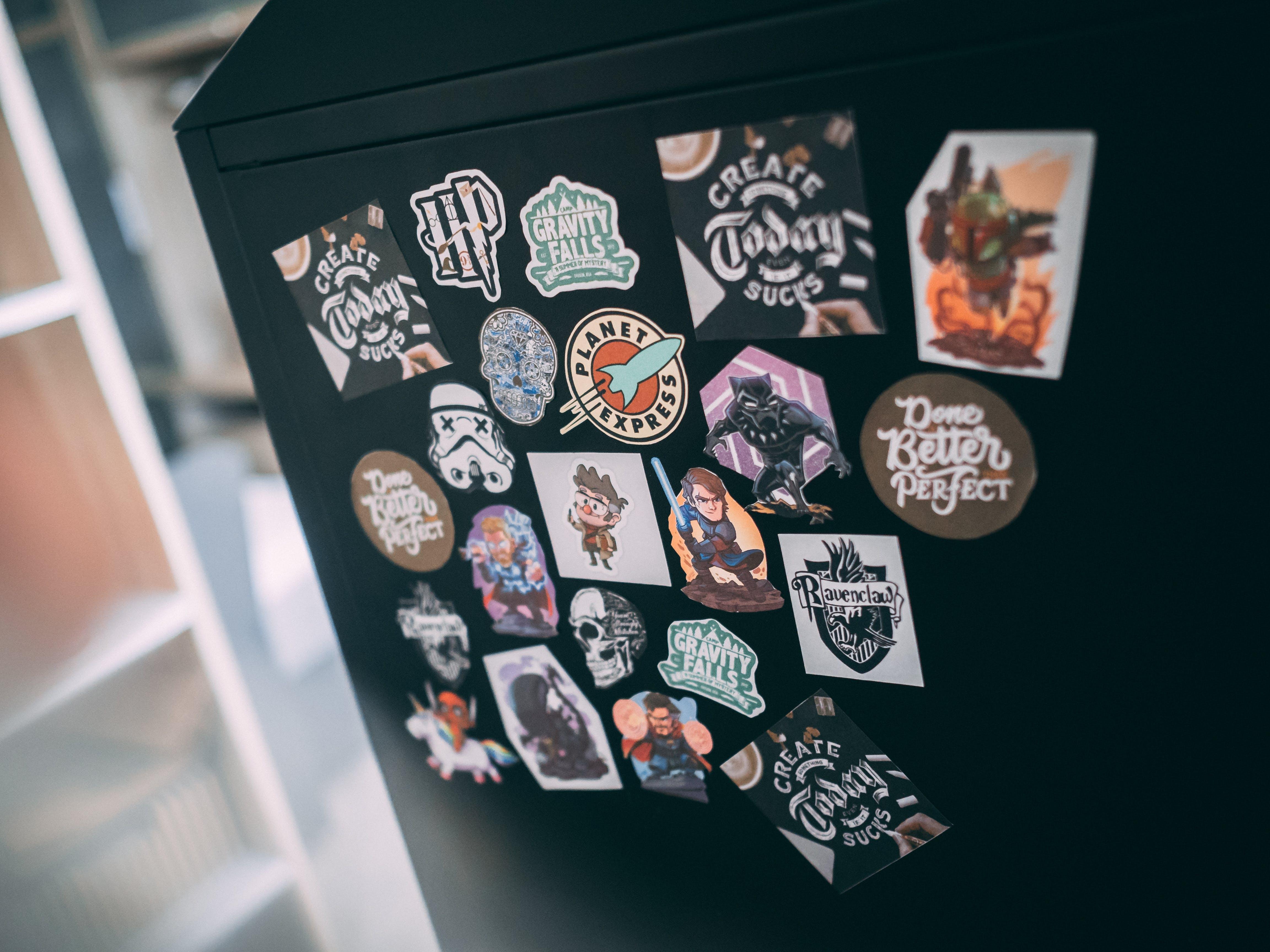 Free stock photo of creativity, motivation, stickers, work