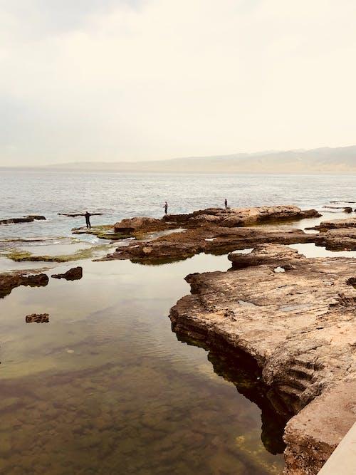 akşam, dalga, deniz, deniz kıyısı içeren Ücretsiz stok fotoğraf
