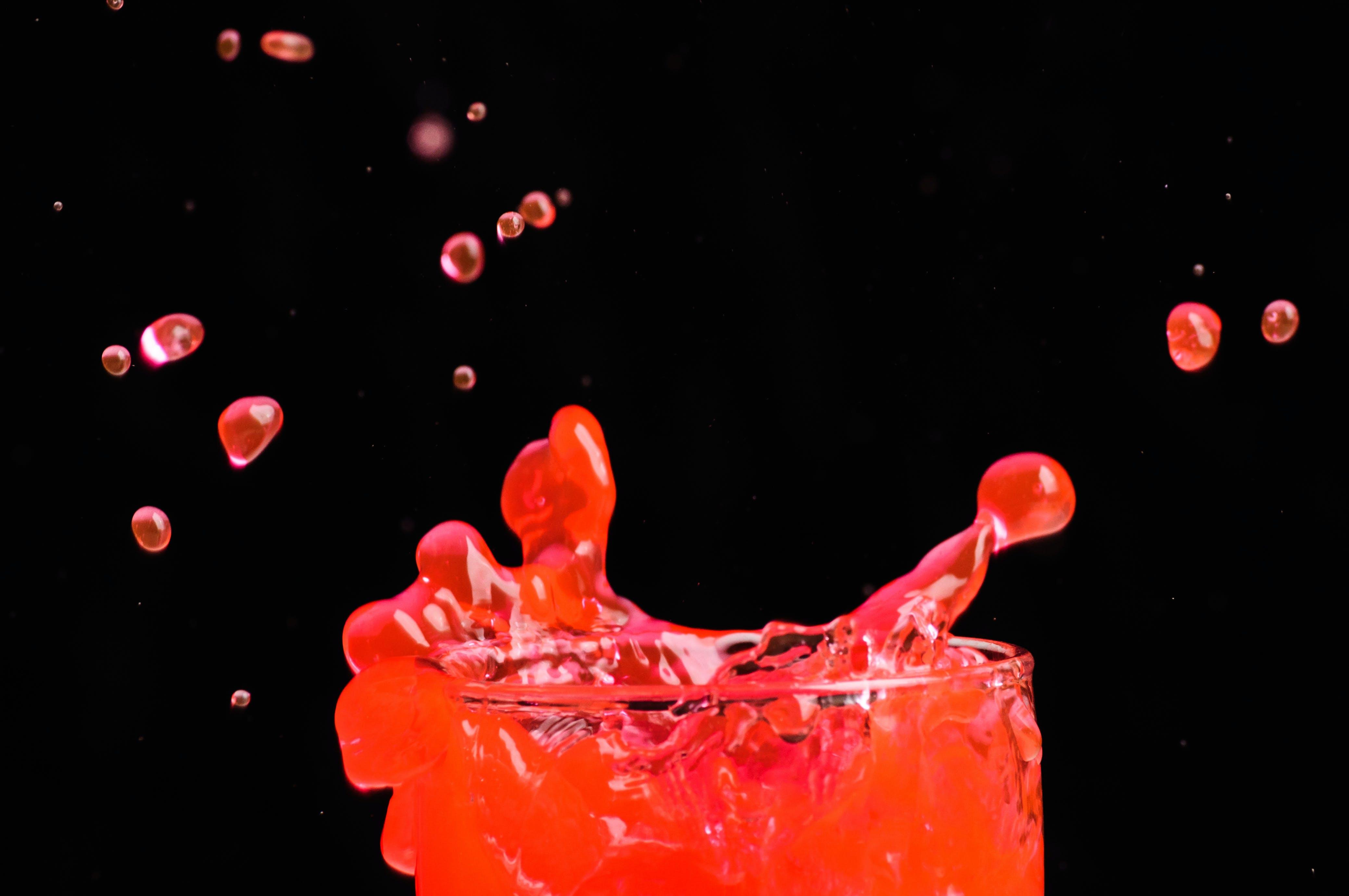 Free stock photo of color splash, drink, liquid, liquid bubbles