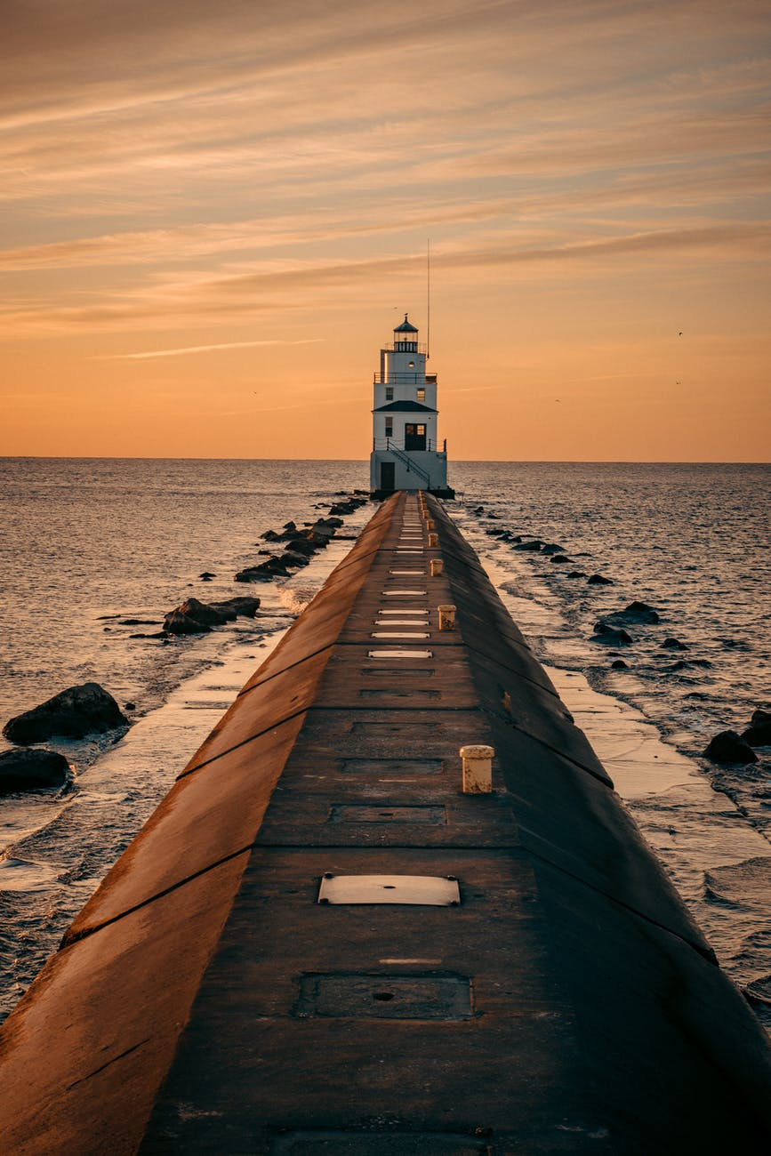 lighthouse during golden hour