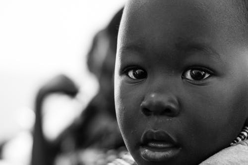 Free stock photo of african, african boy, african child, black and white