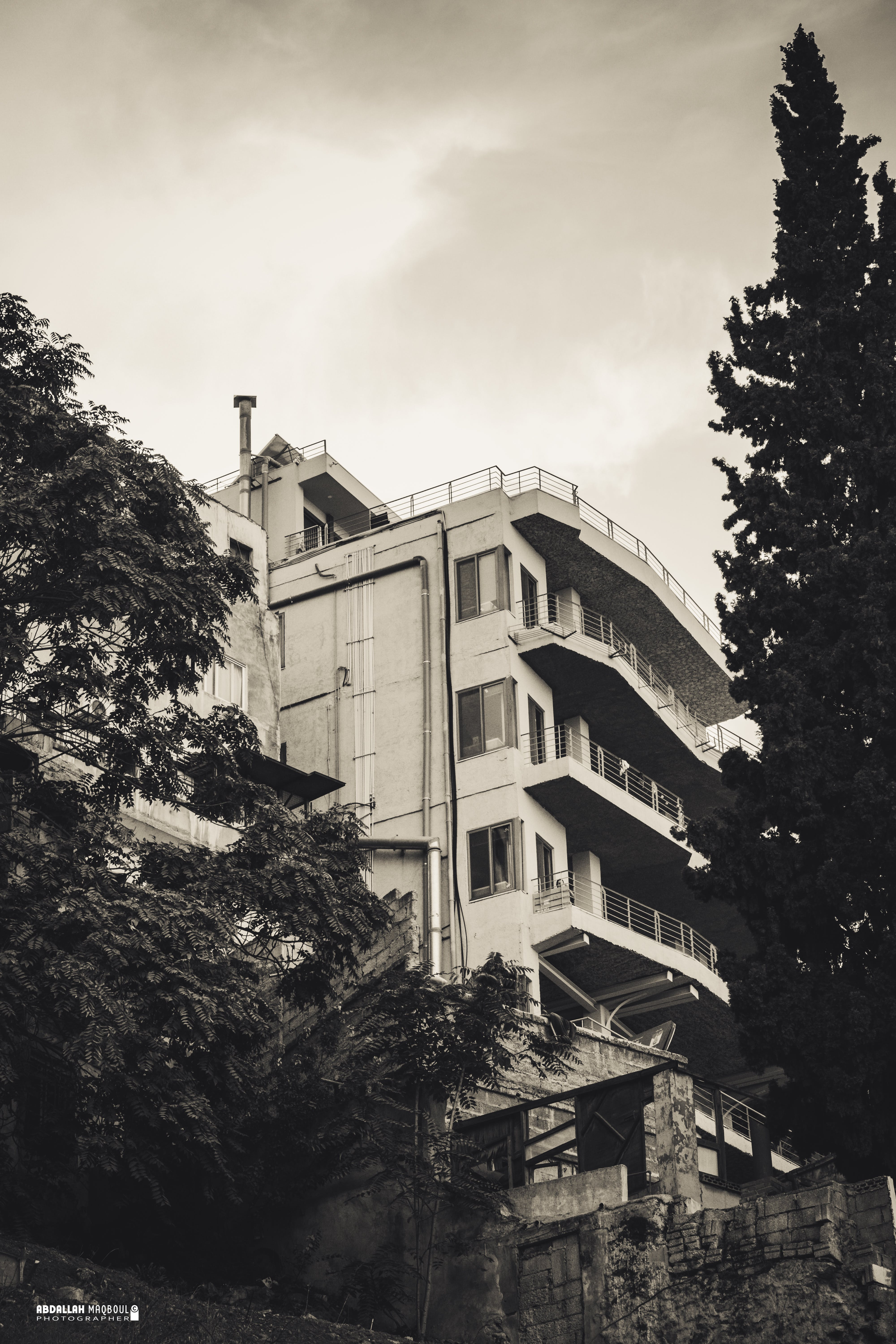 Free stock photo of abandoned building, apartment building, apartment buildings, monochromatic