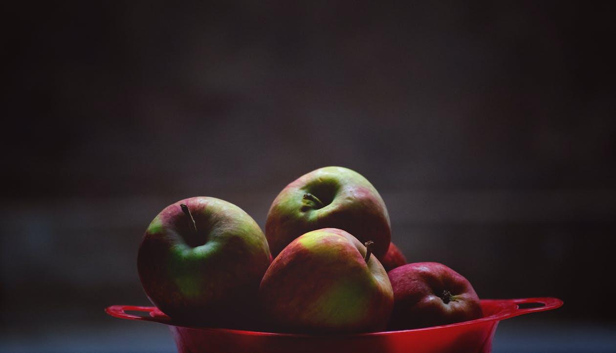bánh kẹo, bát trái cây, bổ dưỡng