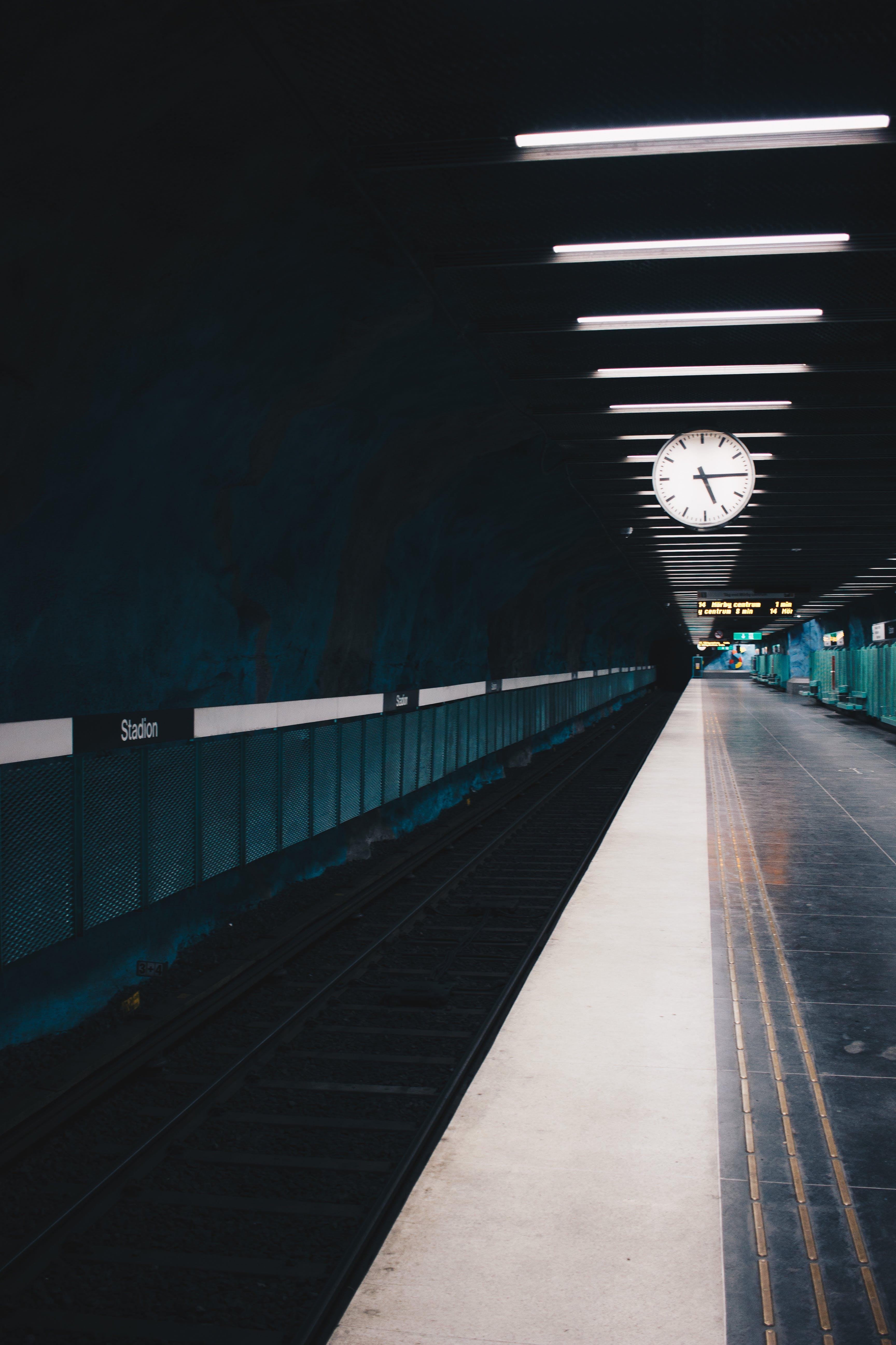 Photo of Empty Train Station Platform