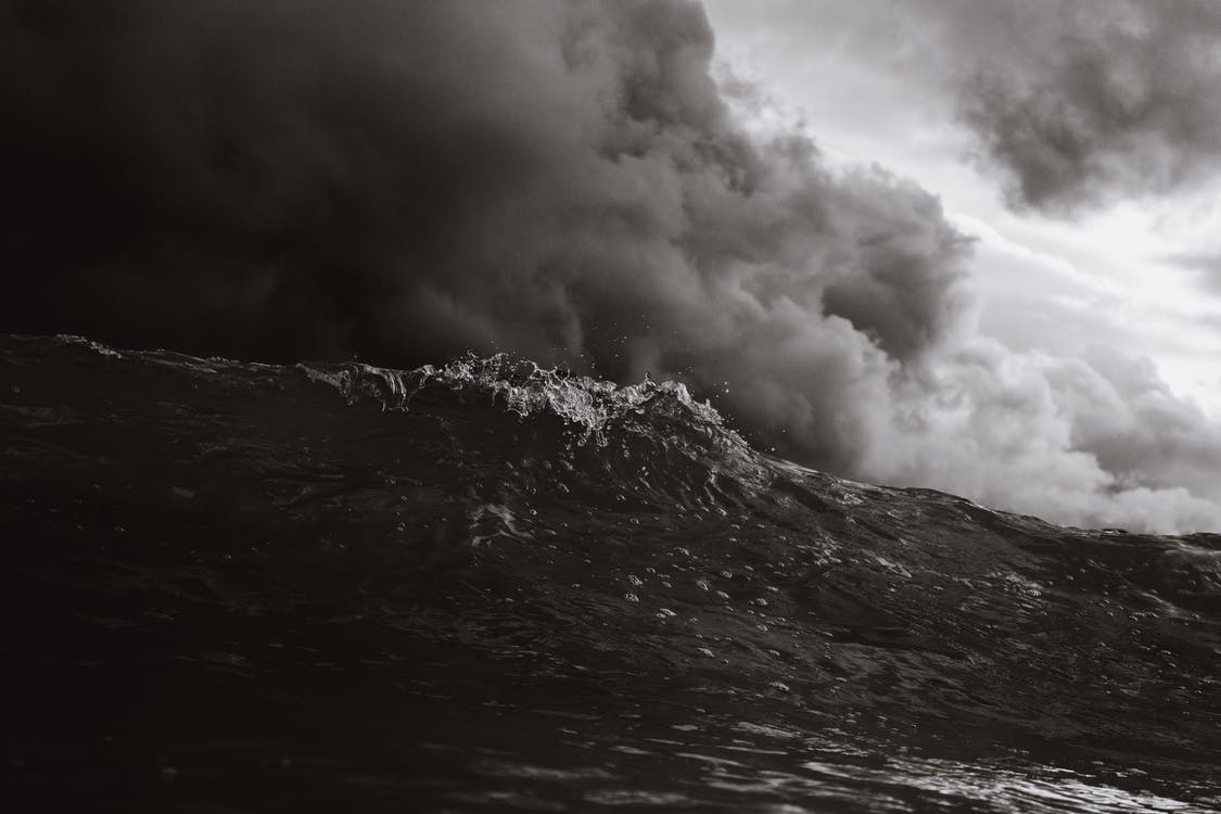 bølger, hav, landskab