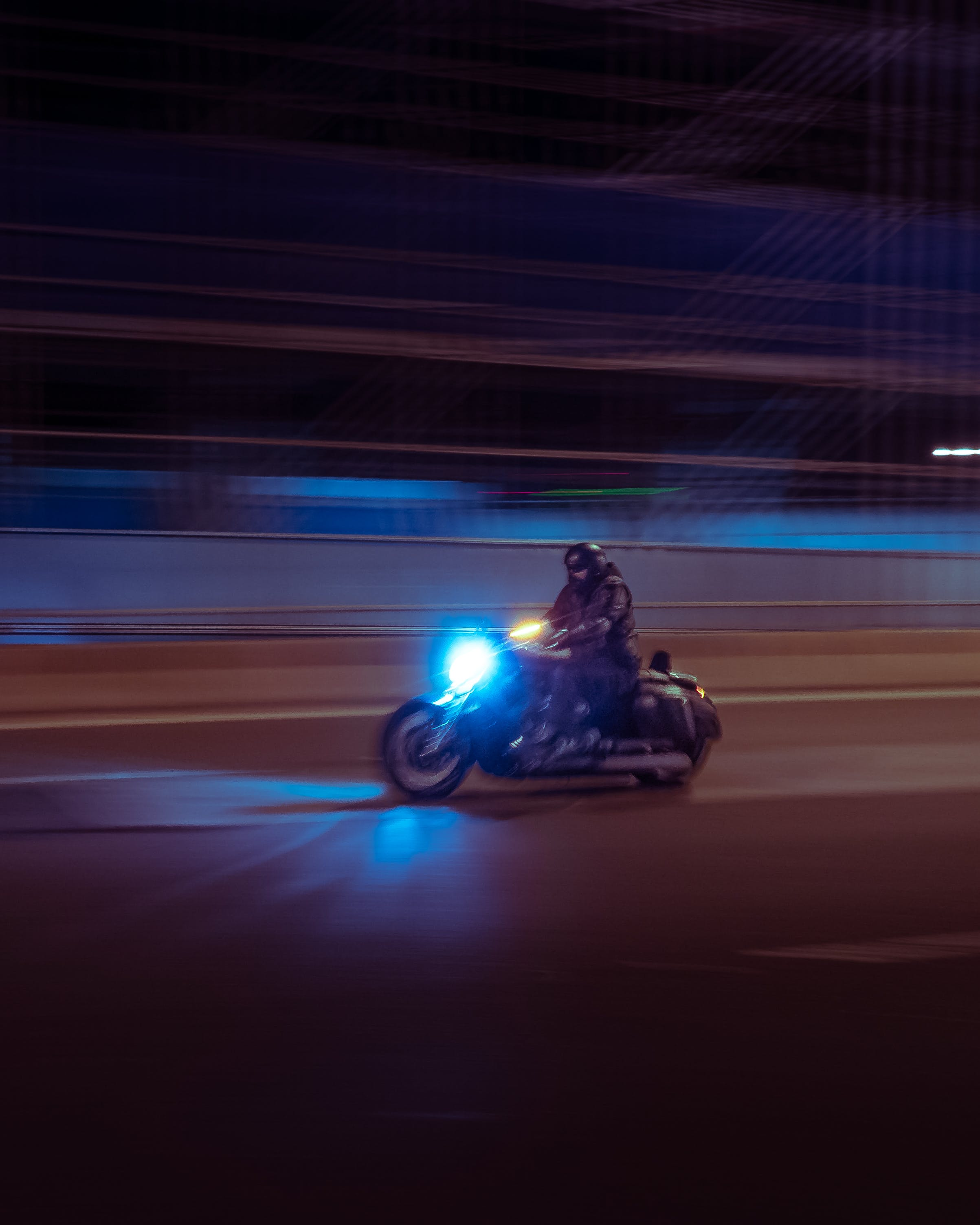 Person Riding on Black Motorcycle