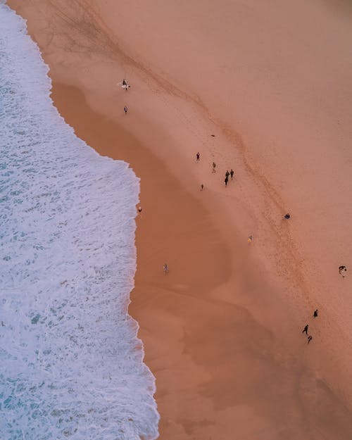 Photo of People Walking on Seashore