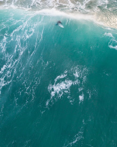 คลังภาพถ่ายฟรี ของ การถ่ายภาพโดรน, คลื่น, ทะเล, ท่อง