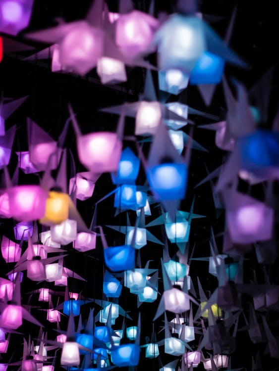 Assorted Colored Lanterns