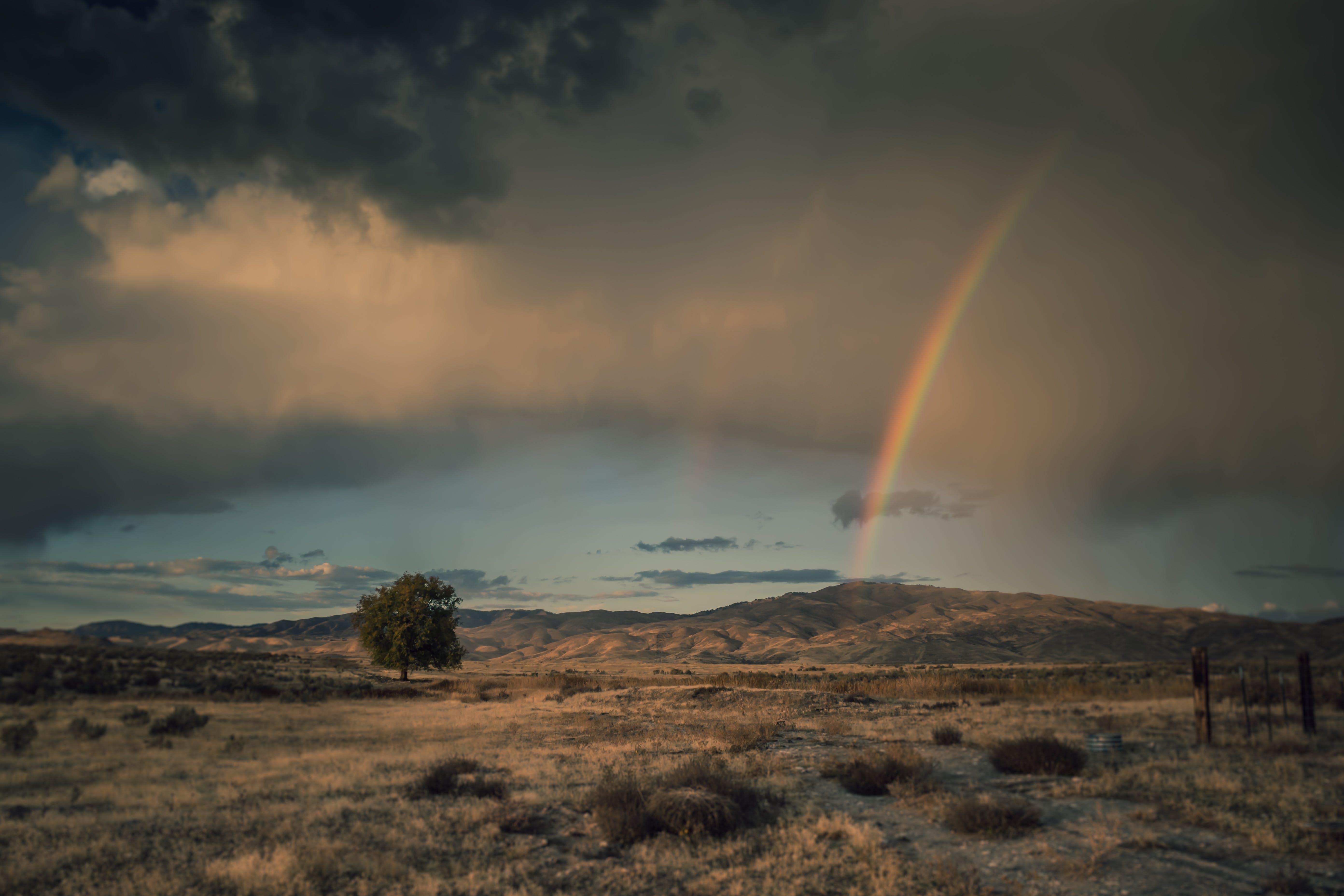 Photo of Rainbow Under Clouded Sky