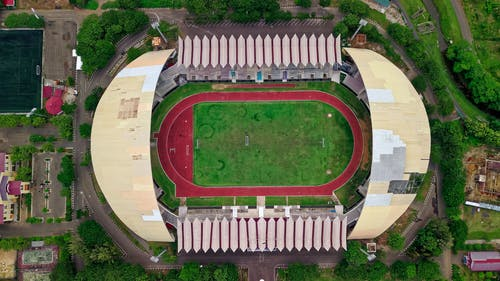 Aerial Photography of Green Sports Field