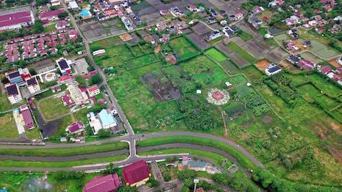 Foto profissional grátis de câmera drone, casas, drone com câmera, edifícios