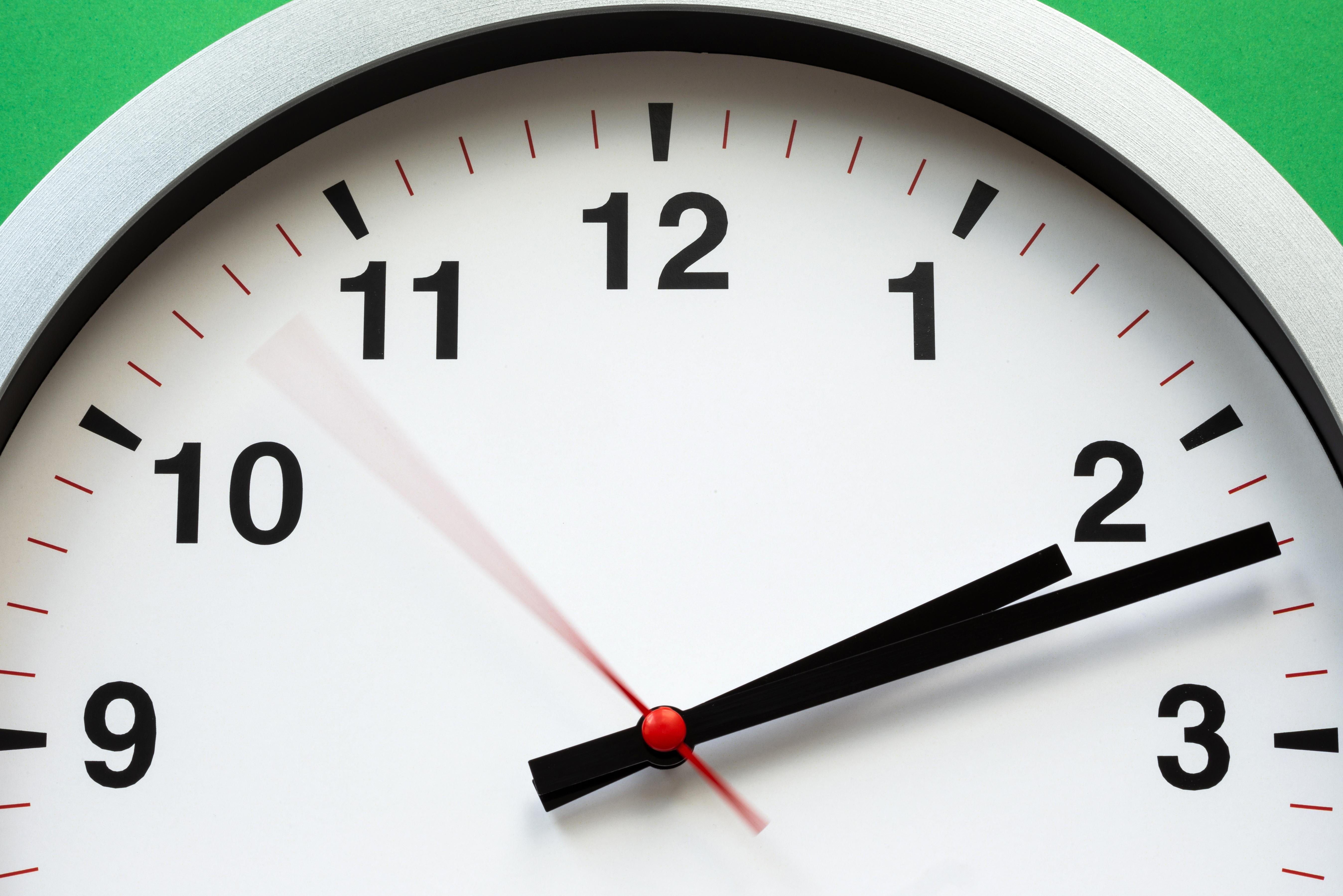 White Clock Reading at 2:12