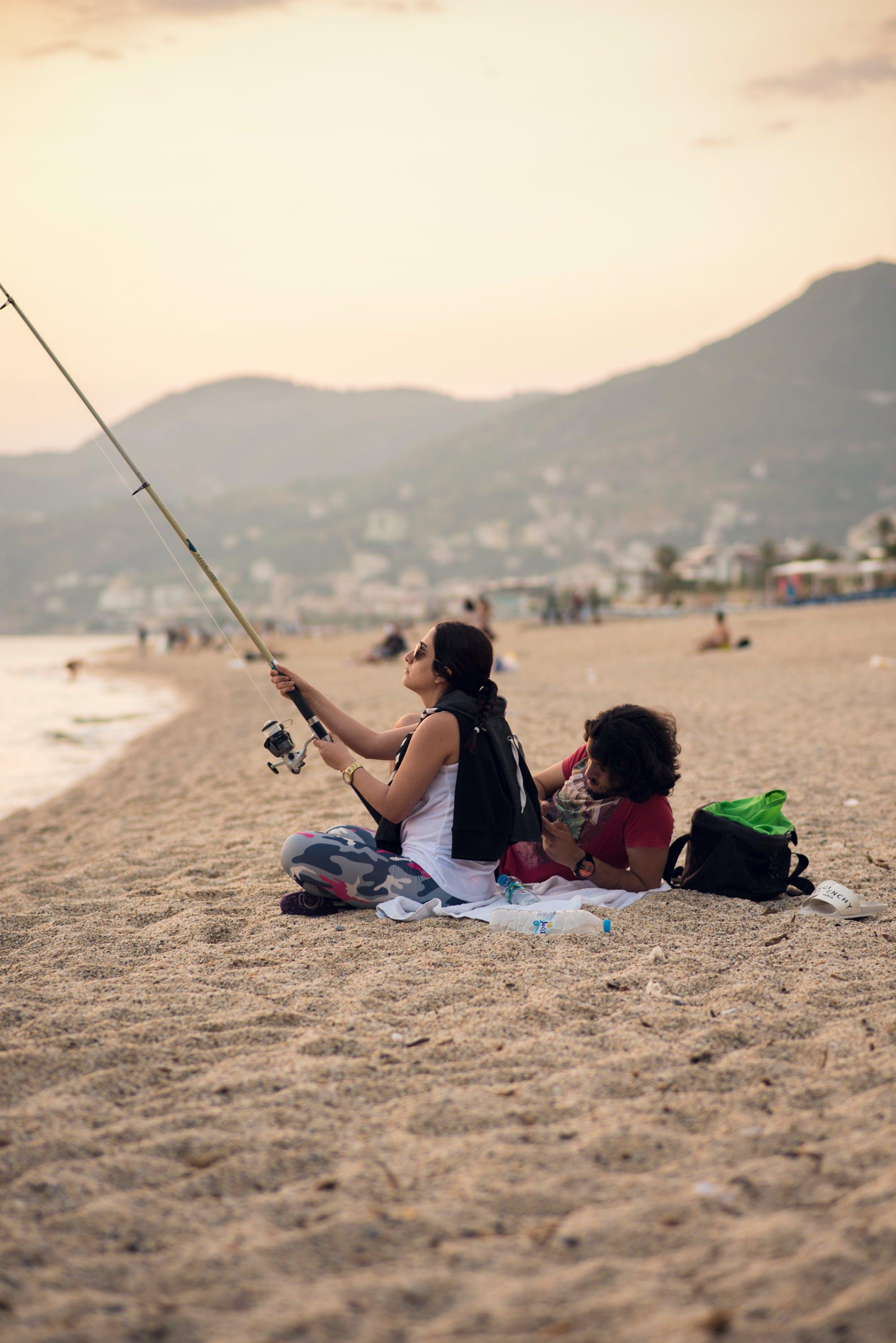 Free stock photo of beach, fishing, in love