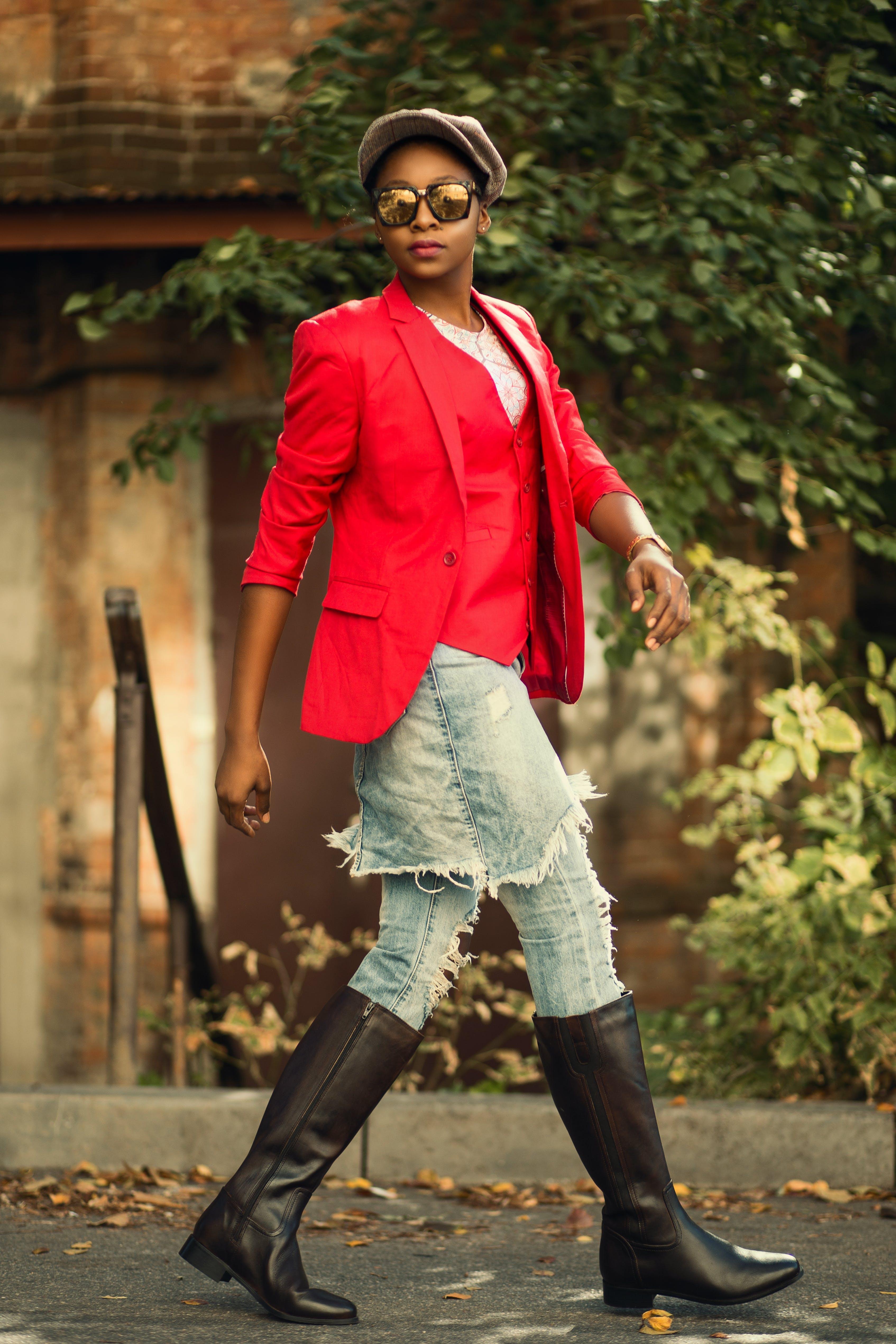 Kostenloses Stock Foto zu fashion, person, rot, sonnenbrille