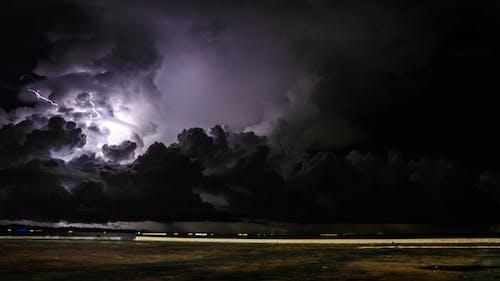 Foto stok gratis doson, guntur, lampu listrik, Langit yang gelap