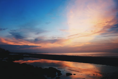 Foto stok gratis air, awan, cahaya, cairan