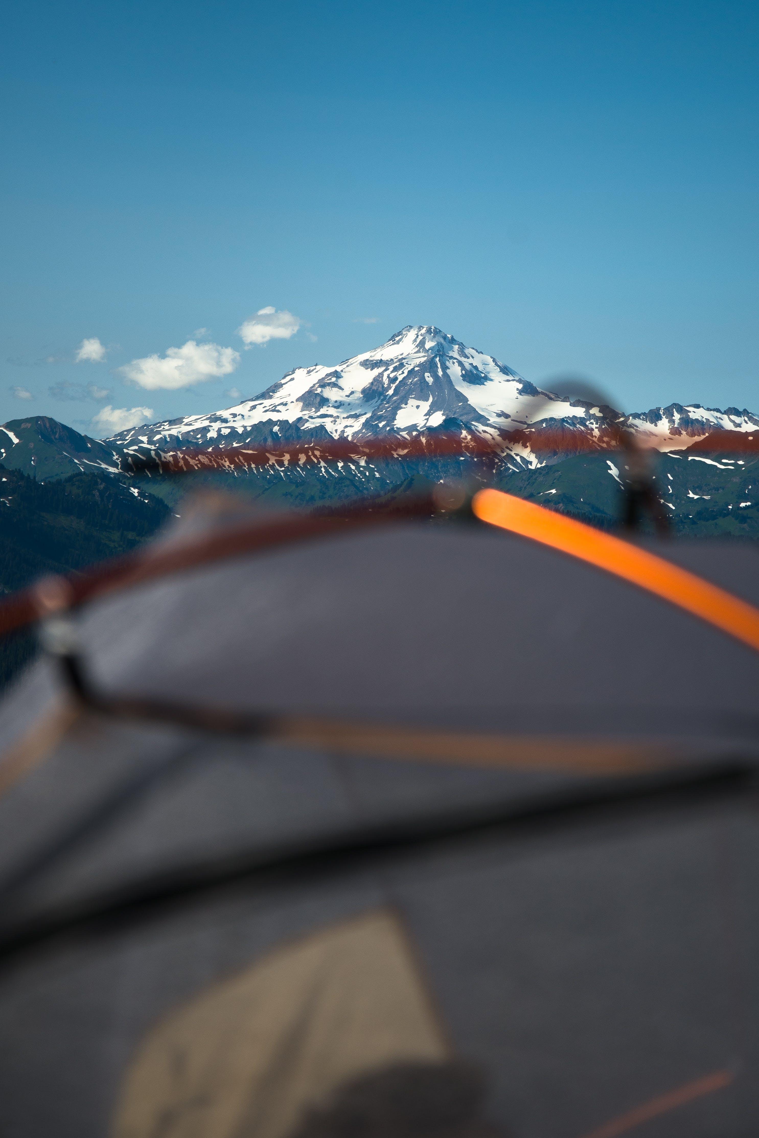 Glacier Mountain Under Clear Blue Sky