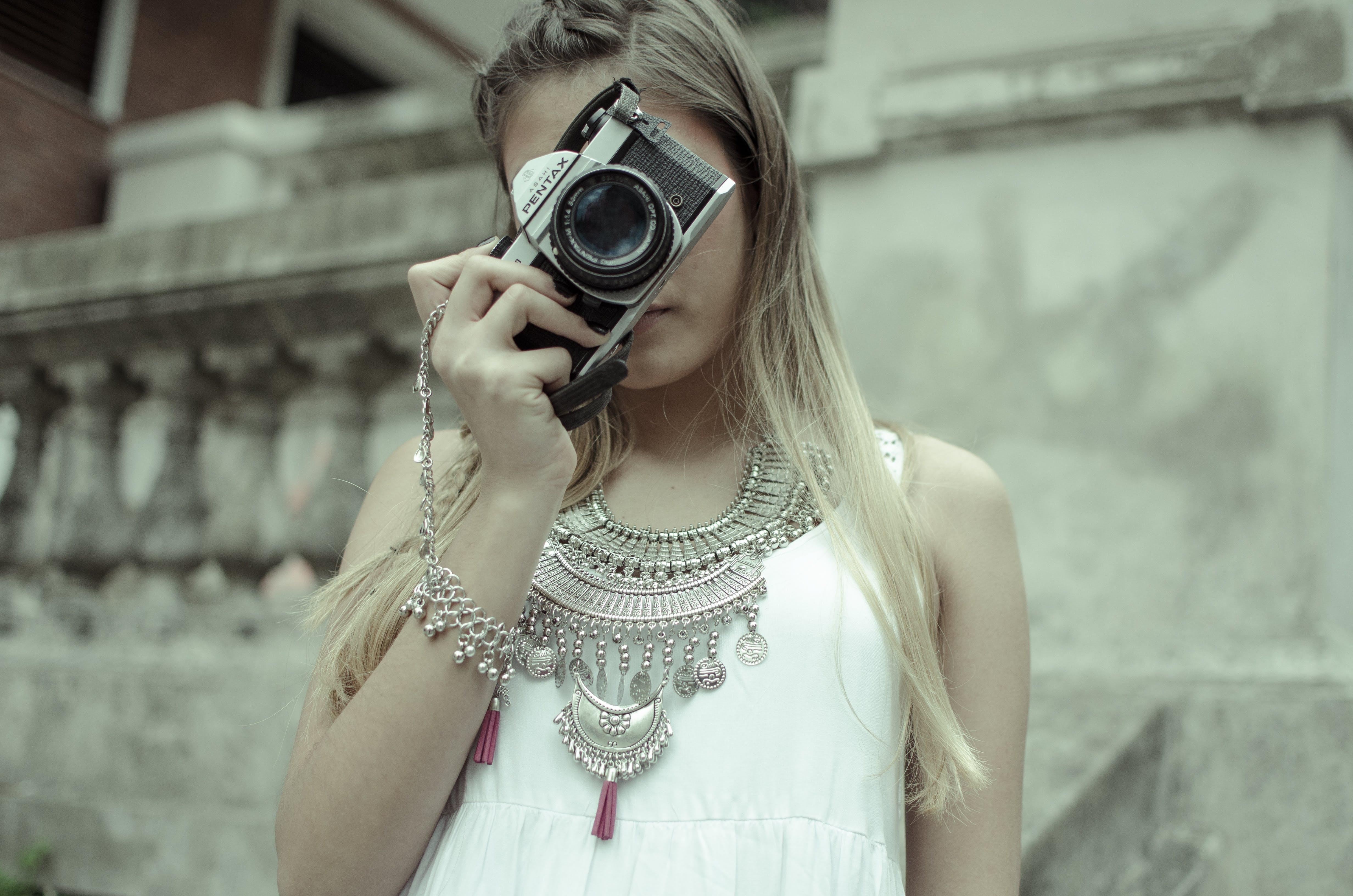 Free stock photo of accessories, beauty, camera, fashion