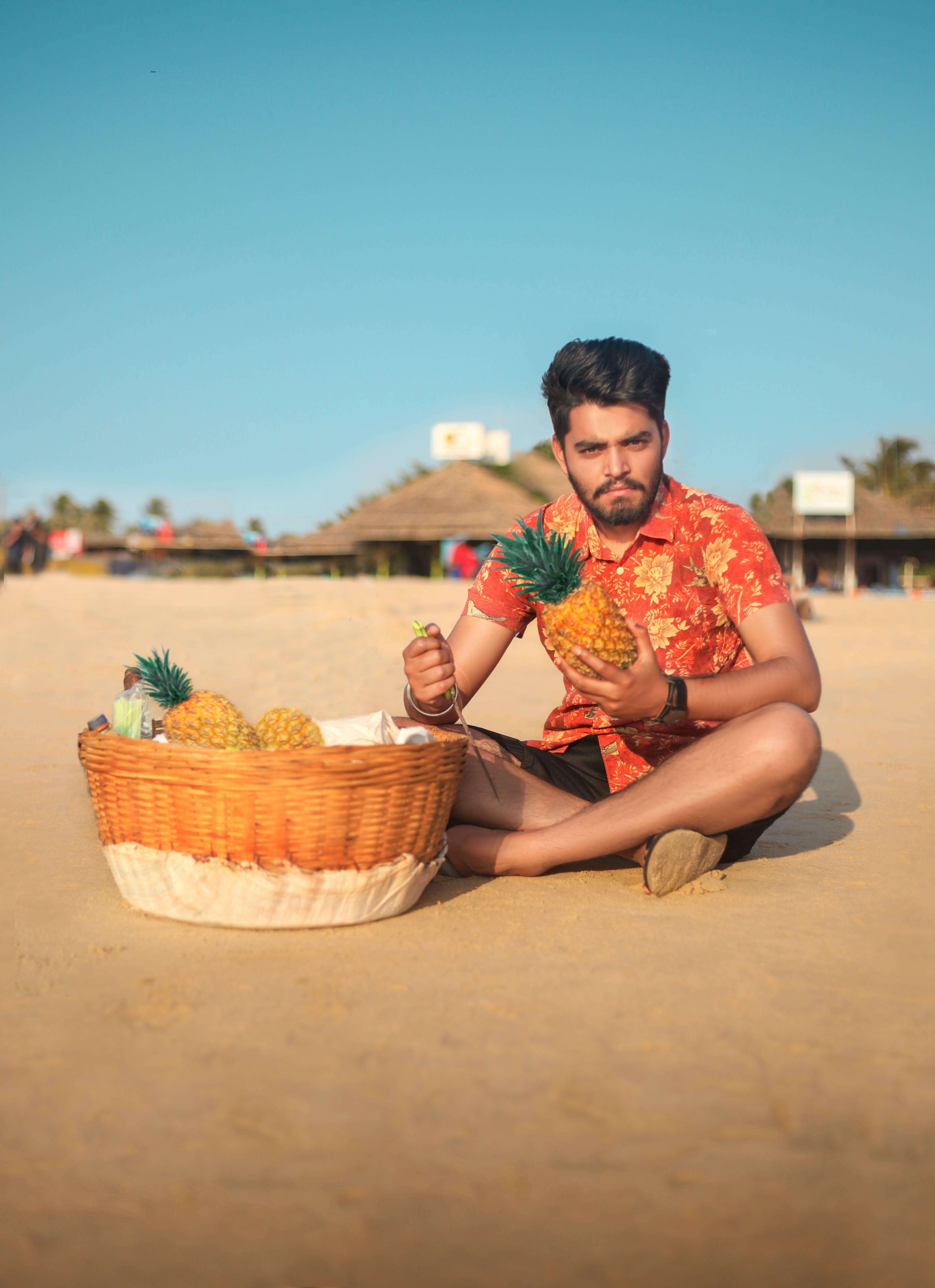 Ảnh lưu trữ miễn phí về cát, Dứa, giải trí, giỏ trái cây