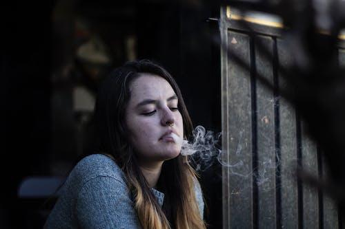 Foto d'estoc gratuïta de adult, arracada al nas, concentrar-se, desenfocament